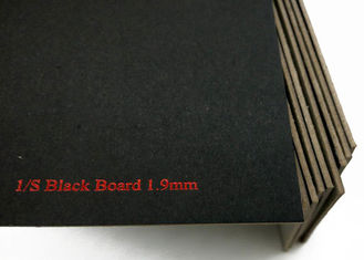 1.9mm Laminated Black Paperboard , Grey Back High Thickness Black Board